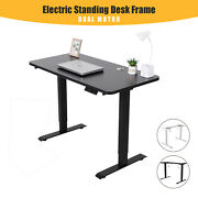 Electric Standing Desk Frame Dual Motor W/ Controller Sit To Stand Workstation