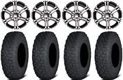 Itp Ss212 15 Wheels Machined 33 Coyote Tires Arctic Cat Tbx Trv Mudpro