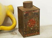 Collectible Kitchen Spice Tins, Coconut Can, Old Rusty Kitchen Tin, Rustic Decor