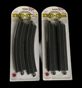"""New Bachmann 44401 Ho Steel Alloy Ez-track 18 Radius Curved And 9"""" Straight Track"""