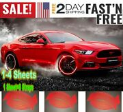 Universal Red Reflective Car Wheel Hub Rim Stripe Decal Conspicuity Tape Scooter