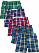 Fruit Of The Loom Menand039s Woven Tartan And Plaid Boxer Multipack