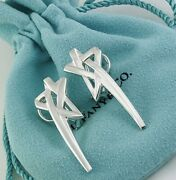 And Co Paloma Picasso Sterling Silver Shooting Star Clip On Earrings