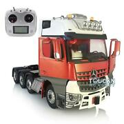 Lesu Rc Metal Chassis Sound Roof Light Hercules Actros 1/14 Tractor Truck Radio
