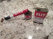 Rare Vintage Advertising Esso Flit Bug Sprayer And Spray 1 Qt Tin Collectible