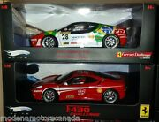 Lot Of 2 Ferrari F430 Challenge Race Cars 28 And 14 118 By Hot Wheels Elite