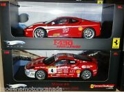 Lot Of 2 Ferrari F430 Challenge Race Cars 4 And 14 118 By Hot Wheels Elite