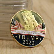 3pcs President Trump 2020 Keep America Great Challenge Eagle Collect Coins Us