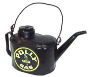 Antique Repainted Railroad Oil Fuel Can W/ Polly Gas Advertising Decal