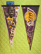 Kobe Bryant And Los Angeles Lakers Nba 29x12 1-sided 2 Pennants By Wincraft