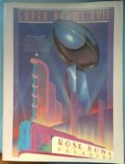 Super Bowl Xvii 17 Official Game Program Dolphins Vs Redskins 144 Pages Ex+ Cond