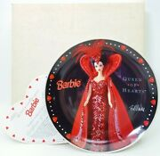 Barbie Queen Of Hearts Limited Edition Jc Penney Collector Plate With Coa J1276