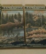 Expressions Die-cut Rustic Cabin/lodge Moose And Woods Scene Wallpaper Border