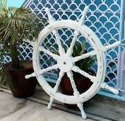 Premium Nautical Handcrafted Wooden Ship Wheel | Pirateand039s Wall Home Decor And Gift