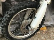 Used Front Hub And Wheel For Vintage 2000 Honda Cr80r Dirt Bike More Parts Avail.