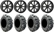 System 3 St-4 Black 20 Wheels 33 Bogger Tires Rzr Turbo S/rs1
