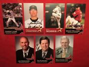 Authentic Autograph 7 Houston Astros Players/personnel Signed 3½x5½ Promo Cards