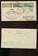Scott C13 Pair And C14 Graf Zeppelin Used Stamps On Nice Fdc Cover April 19, 1930