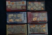 Lot Of 6 U.s Mint Uncirculated Coin Sets - Free Shipping Usa