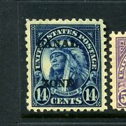 Canal Zone Scott 77 American Indian Overprint Mint Stamp Stock Cz77-31