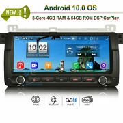 Android 10.0 Car Radio Bt Stereo Gps Sat Navi For Bmw 3er E46 M3 Mg Zt Rover 75