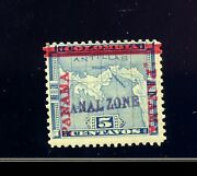 Canal Zone Scott 2 Var W/colon Between Bar And R Panama Mint Stamp W/aps Cert