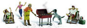 Woodland Scenics O Scale Scenic Accents Figures/people Set Backyard Barbeque