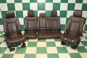 Dmg11-14 F-150 Platinum Crew Brown Leather Heated Cooled Buckets Backseat Set