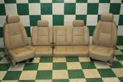07-09 Sierra Extended Cab Tan Leather Dual Power Buckets Backseat Bench Seats