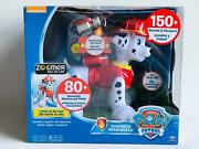 Zoomer Marshall Paw Patrol Fire Fighters Robot Toy Dog Cao Spin Master Brinquedo
