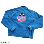 90s Brittania Crown Royal Whiskey Country Jacket Men L Embroidered Patch Trucker
