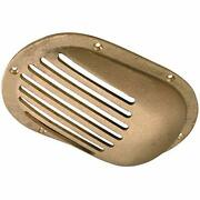 Cast Bronze Scoop Strainer Replacement With Machined Slots For 2 Boat Thru Hull