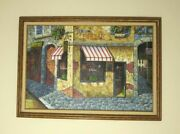 M.chapot Signed And Framed Painting On 24 X 36 Canvas