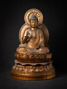 Special Antique Japanese Amida Buddha Statue From Japan