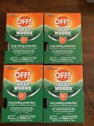 Off Deep Woods Towelettes 12 Ct 4 Boxes