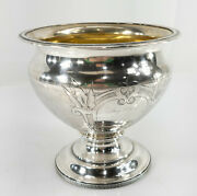 Antique Wood And Hughes Coin Silver Compote Mary Powell New York Dish Bowl