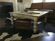 Distressed Reclaimed Wood Square Coffee Table