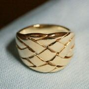 Retired And Vintage James Avery 14k Gold Basket Weave Ring Size 8.75