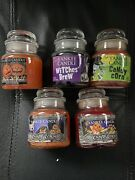 Lot Of 5 Yankee Candle Halloween 3.7 Oz Small Jars Candy Corn Trick Or Treat