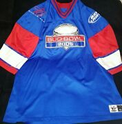 Budweiser Light Bud Bowl 2005 Party Zone Red White Blue Football Jersey 4xl