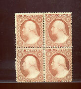 Scott 25 Washington Mint Block Of 4 Stamps W/pse And Weiss Certs Stock 25-pse