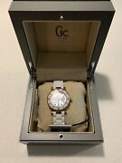 Gc Guess Collection I42004l1s Rose Gold White New Ceramic Women's Watch