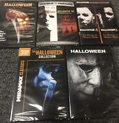 Halloween Complete Collection Dvd New 1-9 Curse H20 Resurrection + Rob Zombie