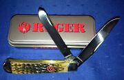 Case Xx Ruger Dual Blade Folding Knife Handcrafted With Box - Made In Usa