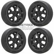 18 Jeep Compass Gloss Black Wheels Rims And Tires Oem Set 4 2018-2021 9191