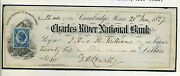 James Russell Lowell Lot Of 2 Signed Autographs On 2 Bank Checks 1 W/initials