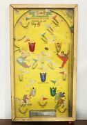 Vintage 1950s Pinball Game 5-in-1 Electric Poosh-m-up Big Five