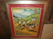 Disney 1950's Donald Duck Picture Puzzle Matted And Framed