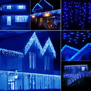 Usa 10-100ft Led Christmas Fairy Icicle Home Curtain Lights Lamp Xmas In/outdoor