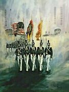 Color Guard By Ben Maile Limited Edition W/ West Point Seal Signed And Numbered
